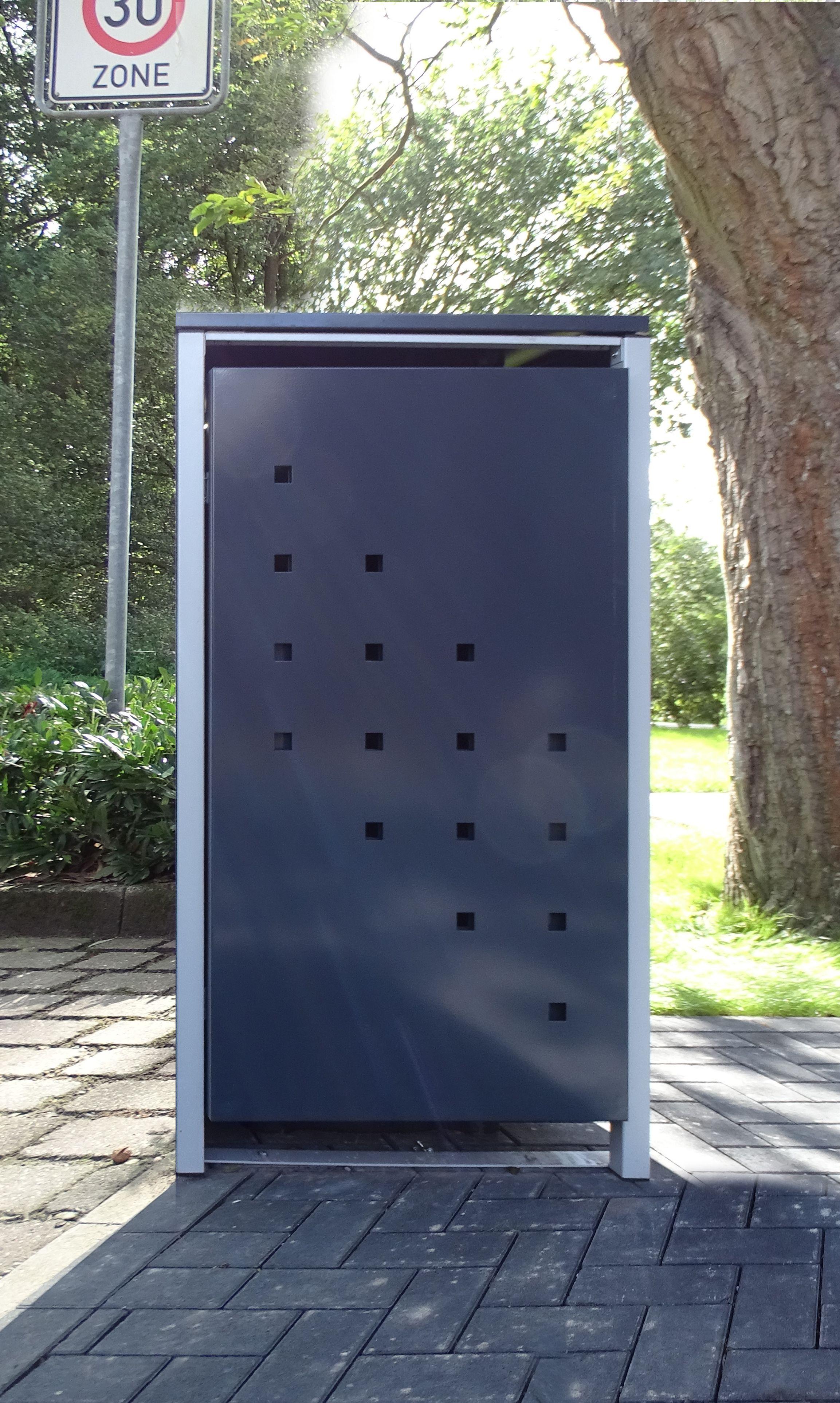 1 mülltonnenbox modell no.3 anthrazitgrau für 240 liter mülltonnen