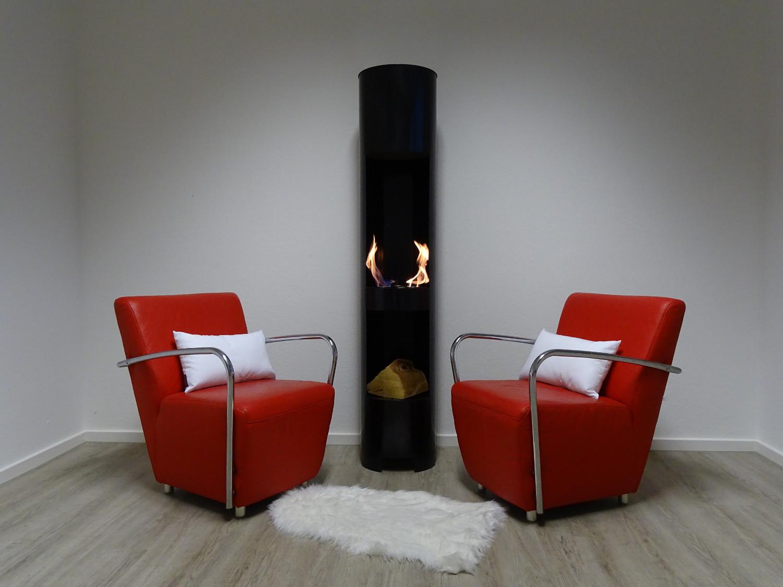 ethanol und gelkamin gel kamin modell hightower xl 180cm schwarz mit holzfach ebay. Black Bedroom Furniture Sets. Home Design Ideas