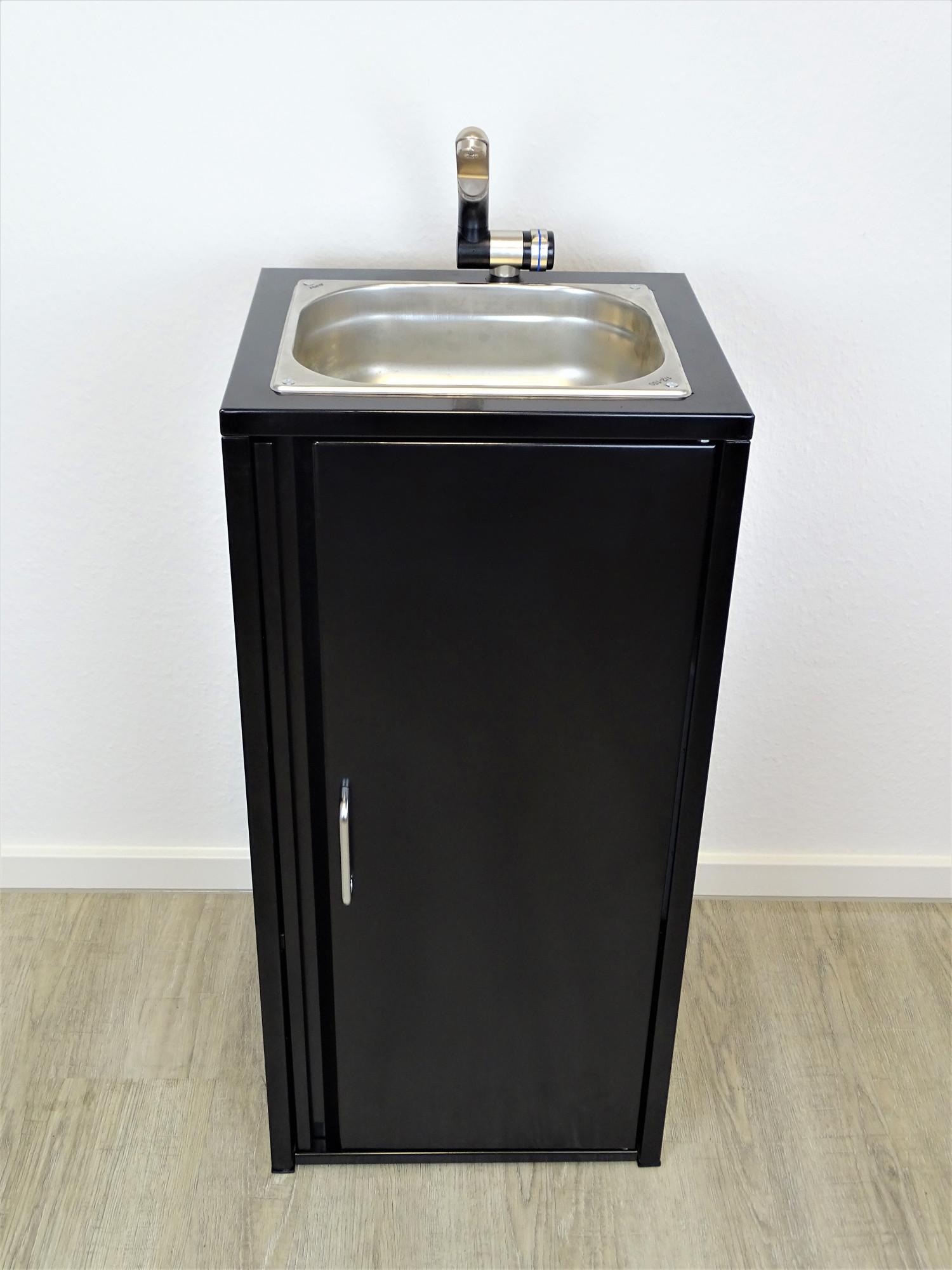 mobiles waschbecken edelstahl sp lbecken handwaschbecken camping schwarz ebay. Black Bedroom Furniture Sets. Home Design Ideas
